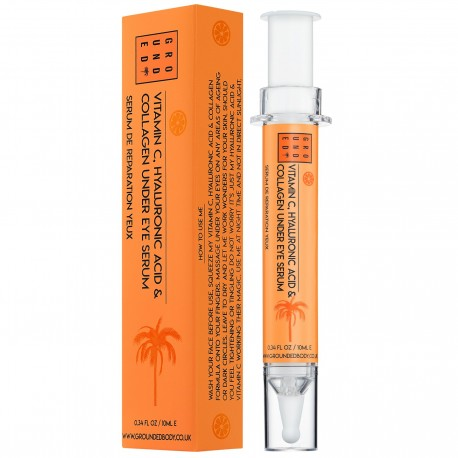 Under eye serum with collagen, vitamin C and hyaluronic acid- Grounded Body