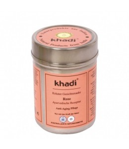 MASCHERA VISO ALLA ROSA (HERBAL FACE PACK ROSE) - Khadi