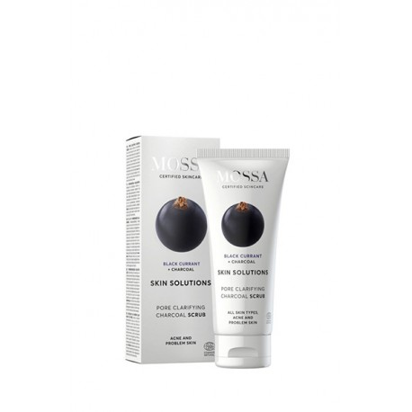Skin solutions pore clarifying charcoal scrub - Mossa