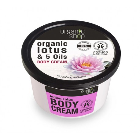 Indian Lotus body cream - Organic Shop